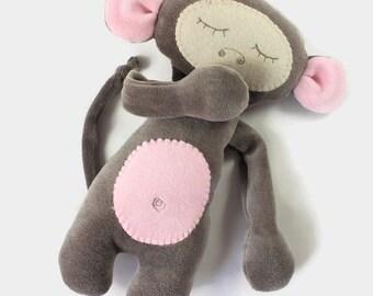 Baby Stuffed Animal, Monkey Lovey, Plush Monkey, Personalized Stuffed Animal, Stuffed Monkey, Baby Boy Gift, Baby Girl Gift, Baby Soft Toy