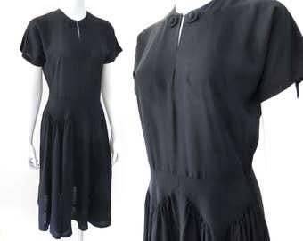 SALE - 1940s Little Black Dress, Size 10 - 50% OFF