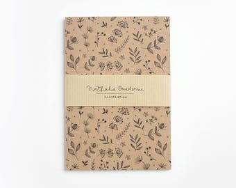 Recycled notebook, brown notebook, recycled paper notebook, recycled stationery, recycled journal, eco notebook, eco friendly notebook