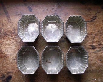 Vintage Kreamer Individual Baking Molds - Set of Six