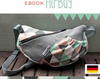 GERMAN tutorial HipBag, DIY, Anleitung, selber Nähen, Schnittmuster