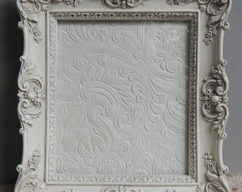 RESERVED 4x6 Picture Frames, Small White Picture Frame, Ornate Picture Frame, Frame with Glass, Wedding Frame, Nursery Frame, Gallery Frame