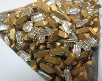 Vintage Crystal Baguette Rhinestones 8x4mm Made in France QTY - 6