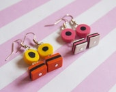 Liquorice Allsorts Earrings ( licorice allsorts candy earrings miniature candy cute earrings food earrings polymer clay jewelry )