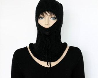 Black  Knitted  balaclava Ski Mask Winter Balaclava Mask knitted Face Mask