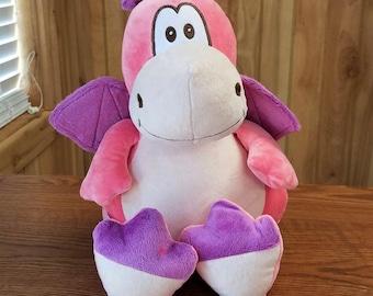 Pink Dragon Cubbies Stuffed Animal Personalized Toy Keepsake