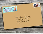 Address Label, Mermaid Address Label, Under the Sea Address Label, Printed Return Address Label, Envelope Mailing Labels, Personalized Label