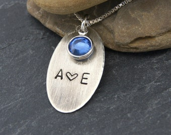 Personalized Valentine Jewelry, Sterling Silver Valentine Necklace for Wife, Girlfriend, Fiancé, Anniversary Gift for Wife,