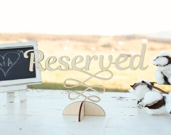 Reserved Table Sign Rustic Wedding