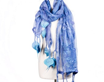 Blanket Scarf| Silk & Felt Scarf| oversized scarf | Kate Ramsey | silk scarf | | Fabulousfelt| Unique Style |Silk | womens scarves