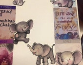 Accessory stickers for Kate Spade, Mambi, Erin Condren and personal planners, Elephants Never Forget