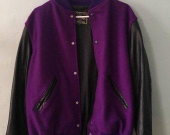 Purple & Black Varsity Jacket