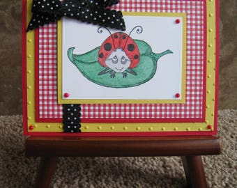 Handmade Card - Lovely Ladybug