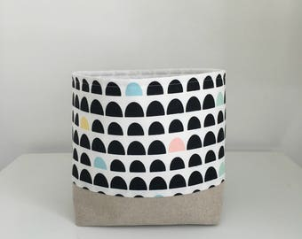 Storage Basket, Fabric Basket, Modern Geometric, Nursery Storage Bin
