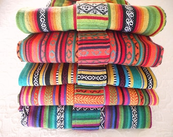 Yoga Mat Bags - Amazing MEXICAN Fabrics - made to order - roomy, easy to use, quiet, extra wide draw string close. PURE COTTON.