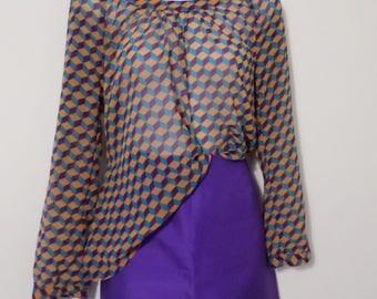 Vintage sheer floaty tunic top - size medium