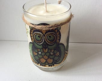 Libbey Owl Soy Candle