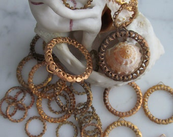 Vintage Filigree Hoops...A stack of 8!
