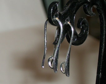 Silver plated earring hook-20 mm- (10 pieces)