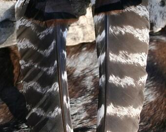 Long Turkey Feather Earrings