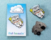 Cat enamel pin, Cat jacket pin, Cute cat lover gift, Kawaii cat backpack pin, Enamel lapel pin cat, Crazy cat lady, BFF gift, Flat Bonnie