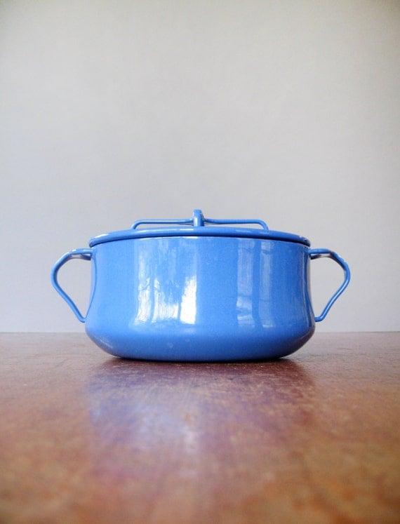 Mid Century Modern Oven ~ Mid century dansk kobenstyle blue enamel pot dutch oven