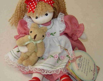 """Green Tree Collectibles' GOLDIE LOCKS Musical Wind-Up DOLL - """"Storybook Series"""" - Plays Brahm's Lullaby - Handmade - With Tags Attched"""
