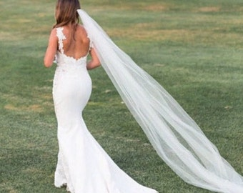 Bridal veil ivory, ivory bridal veil, cathedral veil