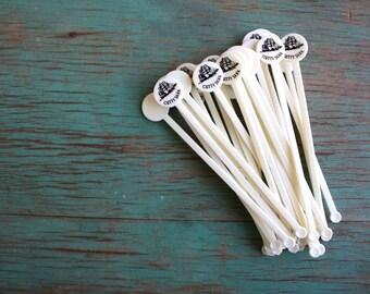 Cutty Sark Vintage Stirrers, Swizzle Sticks, Vintage Swizzle Sticks, Cutty Sark, 25 Plastic Swizzle Sticks, Vintage Barware