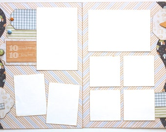 10 Tiny Fingers Premade 2 Page 12x12 Scrapbook Layout
