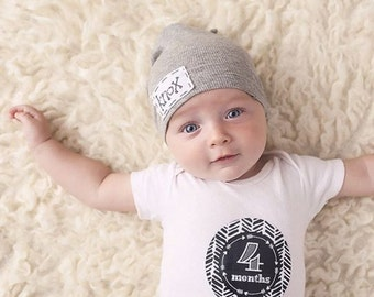 Black and White Monthly Baby Stickers Baby Month Sticker Monthly Bodysuit Monthly Stickers Chalk Board Triangles Arrows (Black White Tribal)