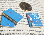 SALE - Miniature Book / The Cat in the Hat by Dr. Seuss / Tiny Book with real blank pages / 1:6 sixth scale mini book / only 5 left
