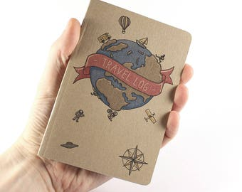 "Small Travel Notebook ""Travel Log"""