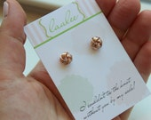 Rose Gold Knot Earrings, Stud Earrings Knot, Tie the Knot Studs, Tie the Knot Jewelry, Bridesmaid Gift, Tie the Knot Card, Tie the Knot Gift