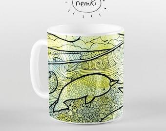 Narwhal Ceramic Mug, Cute Narwhal Mug, Narwhal Gifts, Gifts for Narwhal Lovers, Cute Narwhals, Narwhal Mug, Narwhal Coffee Mug, Narwhals