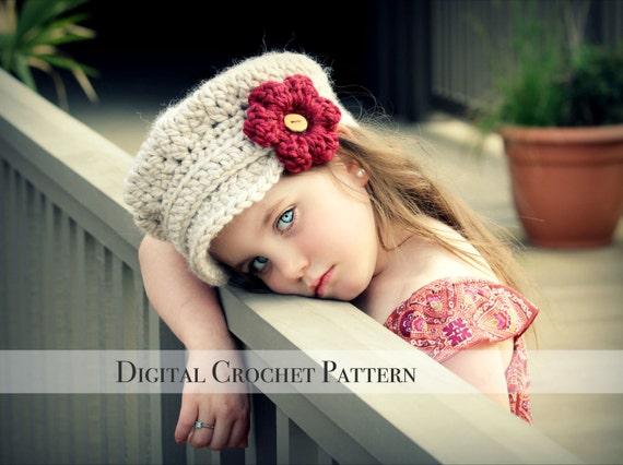 Crochet Pattern / Hat Pattern / Chunky & Slouchy Newsboy Hat Pattern 011 / 2 Patterns in One