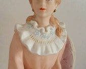 Christmas Clearance, Beautiful Homco, Home Interiors, Victorian sitting Porcelain Lady Figurine