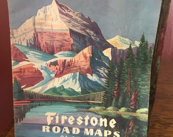 1946 Firestone Road Maps of America- Road Trip- Adventure