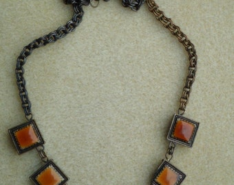 Vintage Brass Chain Necklace