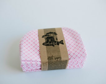 Baby Wipes - Set of 20 -  Double Layer  (Pink )