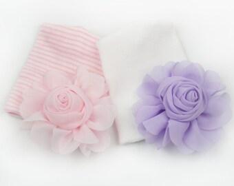 newborn hospital hat, baby girl hat, newborn girl, baby girl gift, baby girl shower gift, ready to ship