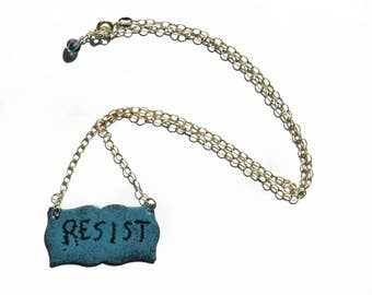 RESIST Sgraffito Necklace Vitreous Enamel