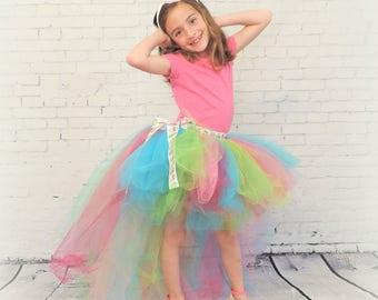 High low girls tutu trending now tulle tutu skirt birthday tutu pink blue green cupcake tutu cupcake party special occasion tutu  girls tutu
