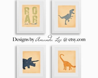 Dinosaur Art Print - 8x10 - Designer Set 3