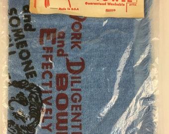 Vintage Comical Bowler Crying Towel - Novelty Humor Gag Item - NEW
