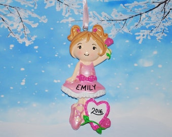 Personalized Ballerina Ornament