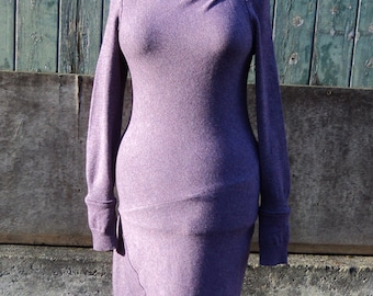 Parma Violet Lambswool Knitted Dress