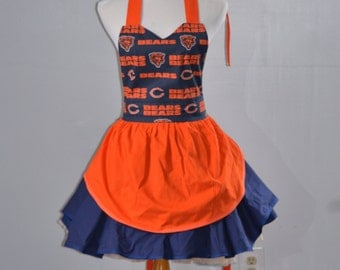 Chicago Bears Apron, Tigers Apron, Cute Aprons,Cooking Aprons