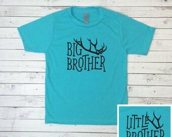 Sibling Shirt, Big Brother shirt, Little Brother Shirt, Antlers, Boys T-Shirt