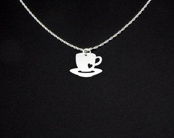 Coffee Cup Necklace - Coffee Necklace - Coffee Jewelry - Coffee Gift - Coffee Cup Jewelry - Coffee Cup Gift